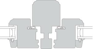teknisk tegning af bondehus profil