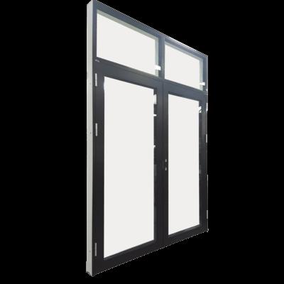 dobbeltdør med vinduer