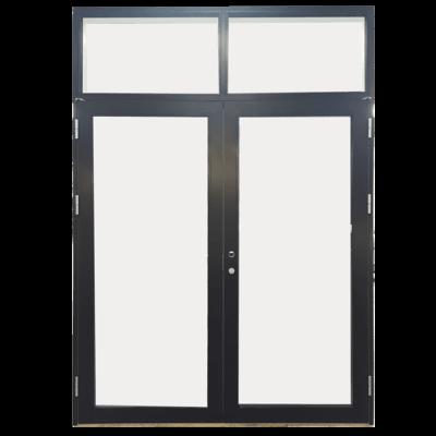 dobbeltdør med vinduer front