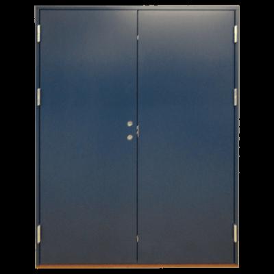 dobbeltdør blå