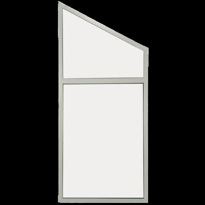 facade vindue med skrå kant