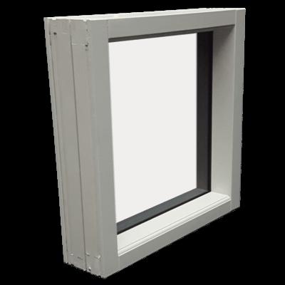 Fastkarm vindue fra siden