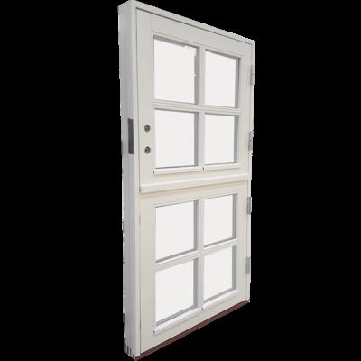 halvdør med vinduer front