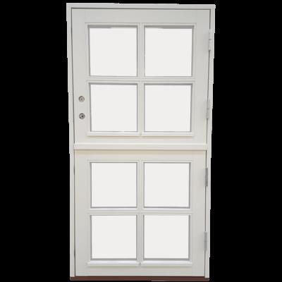 halvdør med vinduer