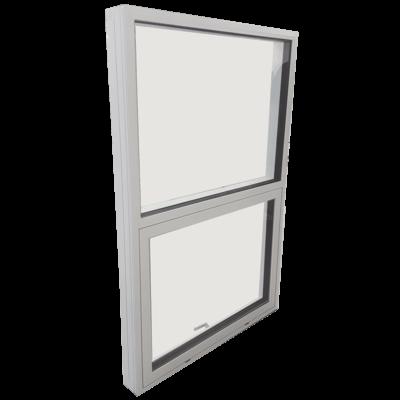Topstyret vindue side med fast vindue