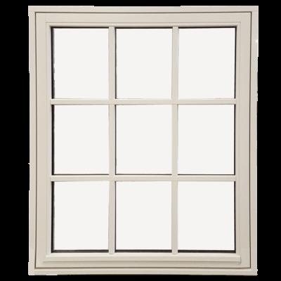 Topstyret vindue med ni ruder